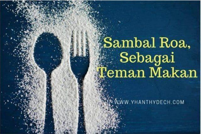 Sambal Roa, sebagai Teman Makan